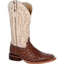 Durango® Premium Exotics™ Bone Full-Quill Ostrich Western Boot