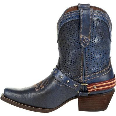 Crush™ by Durango® Women's Blue Ventilated Shortie Western Boot, , large