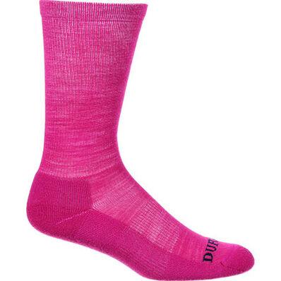Durango® Boot Light Weight Merino Wool Socks, PINK, large