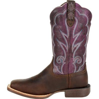 Durango® Lady Rebel Pro™ Women's Ventilated Plum Western Boot, , large