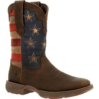 Lady Rebel™ by Durango® Women's Vintage Flag Western Boot, , large