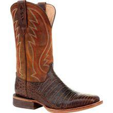 Durango® Premium Exotics™ Antiqued Chestnut Caiman Western Boot