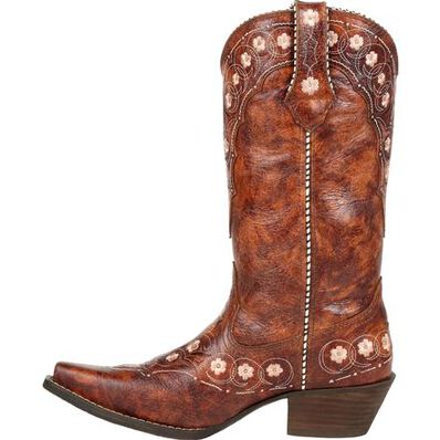 Crush™ by Durango® Women's Cognac Floral Western Boot, , large
