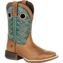 Durango Lil' Rebel Pro Little Kid's Teal Western Boot