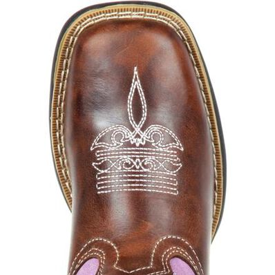 LIL' DURANGO® Big Kids' Lavender Pull-On Western Boot, , large