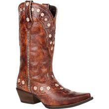 Crush™ by Durango® Women's Cognac Floral Western Boot
