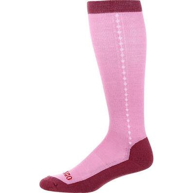 Durango® Boot Women's Lightweight Merino Wool Socks, PINK, large