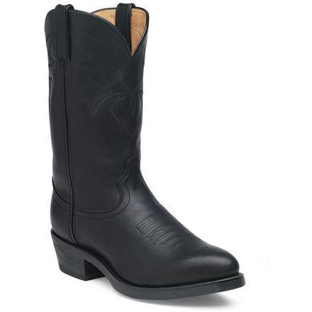 Men's Oiled Black Leather Comfort