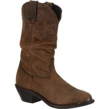 Durango® Women's Distressed Tan Slouch Western Boot