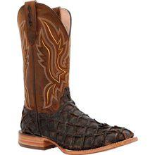 Durango® Premium Exotics™ Dark Brown Pirarucu Western Boot