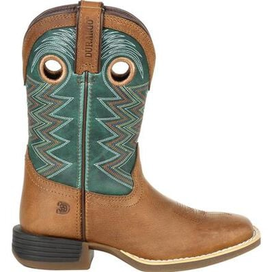 Durango Lil' Rebel Pro Little Kid's Teal Western Boot, , large