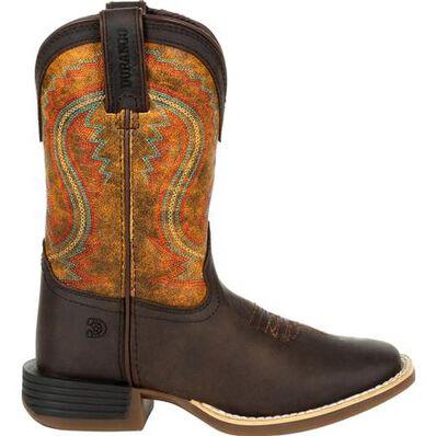 Lil' Durango® Rebel Pro™ Little Kid's Burnt Orange Western Boot, , large