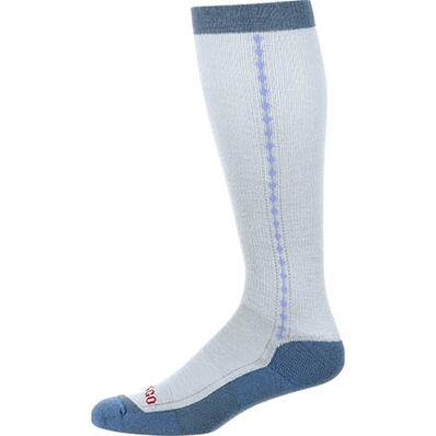 Durango® Boot Women's Lightweight Merino Wool Socks, LIGHT BLUE, large