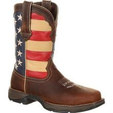 Lady Rebel Work™ by Durango® Steel Toe Patriotic Flag Work Boot