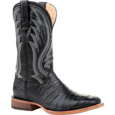 Durango® Premium Exotics™ Black Onyx Caiman Western Boot, , large