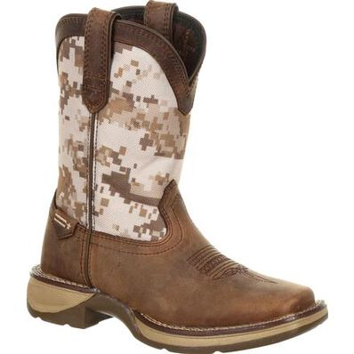 Lil' Rebel™ by Durango® Big Kids Desert Camo Western Boot, , large