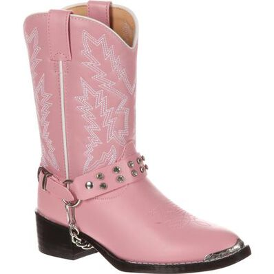 """NEW Durango KID/'S 8/"""" Lil/' Rebelicios PINK /& BROWN PULL ON BOOTS 13M DWBT064"""