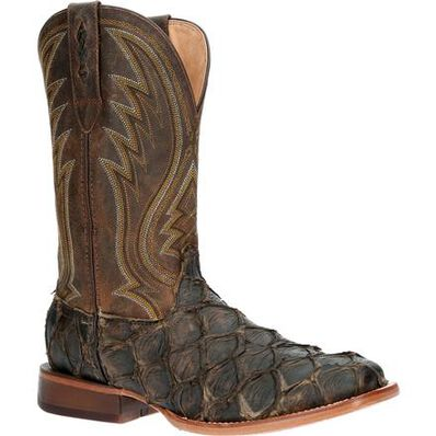 Durango® Premium Exotics™ Dark Bay Pirarucu Western Boot, , large