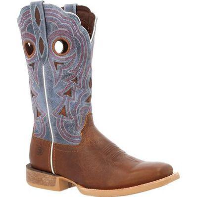 Durango® Lady Rebel Pro™ Women's Golden Brown & Periwinkle Western Boot, , large