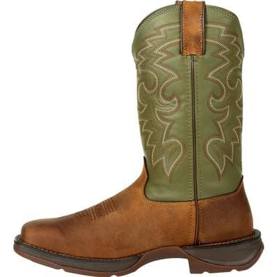 Rebel™ by Durango® Coffee & Cactus Pull-On Western Boot, , large