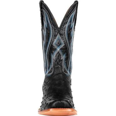 Durango® Premium Exotic Full-Quill Ostrich Midnight Western Boot, , large