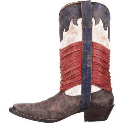 Durango® Dream Catcher™ Americana Wrapped Fringe Western Boot, , large