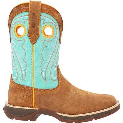Lady Rebel™ by Durango® Women's Dusty Brown & Sky Blue Western Boot, , large