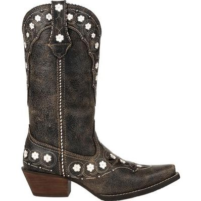 Crush™ by Durango® Women's Onyx Floral Western Boot, , large