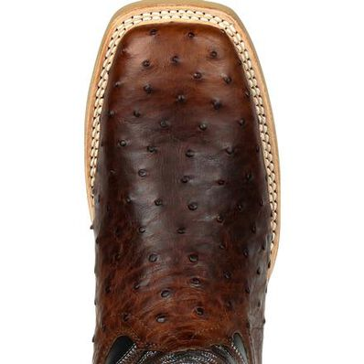 Durango® Rebel Pro™ Oiled Saddle Ostrich Western Boot, , large