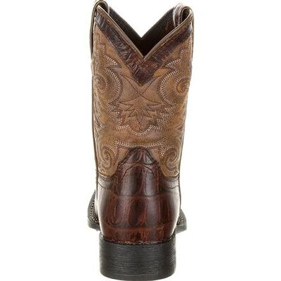 Lil' Durango® Mustang™ Big Kids' Faux Gator Western Boot, , large