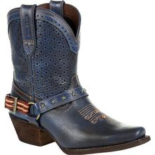 Crush™ by Durango® Women's Blue Ventilated Shortie Western Boot