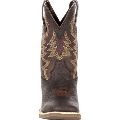 Durango® Lil' Rebel Pro™ Little Kid's Brown Western Boot, , large