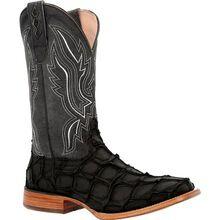 Durango® Premium Exotics™ Matte Black Pirarucu Western Boot