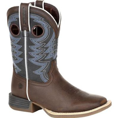 Durango® Lil' Rebel Pro™ Big Kid's Blue Western Boot, , large
