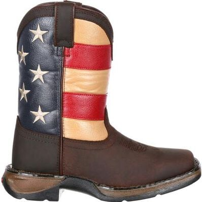 Lil' Rebel™ by Durango® Little Kids' Flag Western Boot, , large