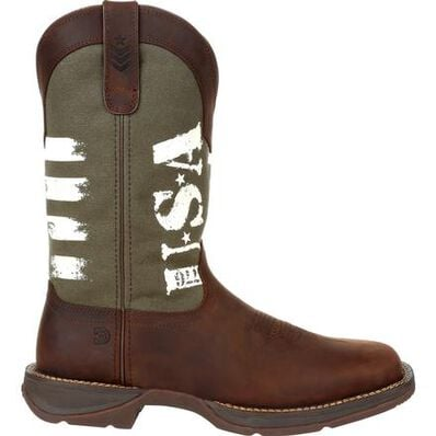 Rebel™ by Durango® Army Green USA Print Western Boot, , large