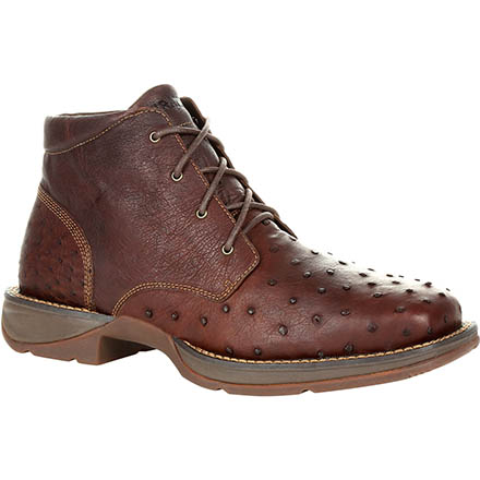 Durango® Red Dirt Rebel™ Antiqued Saddle Full-Quill Ostrich Chukka