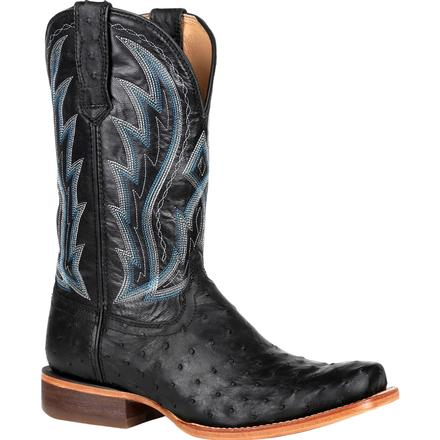 Durango Premium Exotic Full-Quill Ostrich Midnight Western Boot, , large