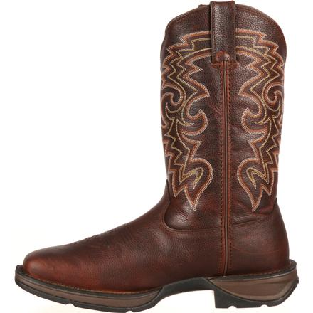 Rebel™ by Durango® Dark Brown Pull-On Western Boot, , large