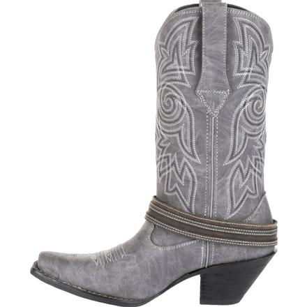 Crush™ by Durango® Women's Graphite Flag Accessory Western Boot, , large