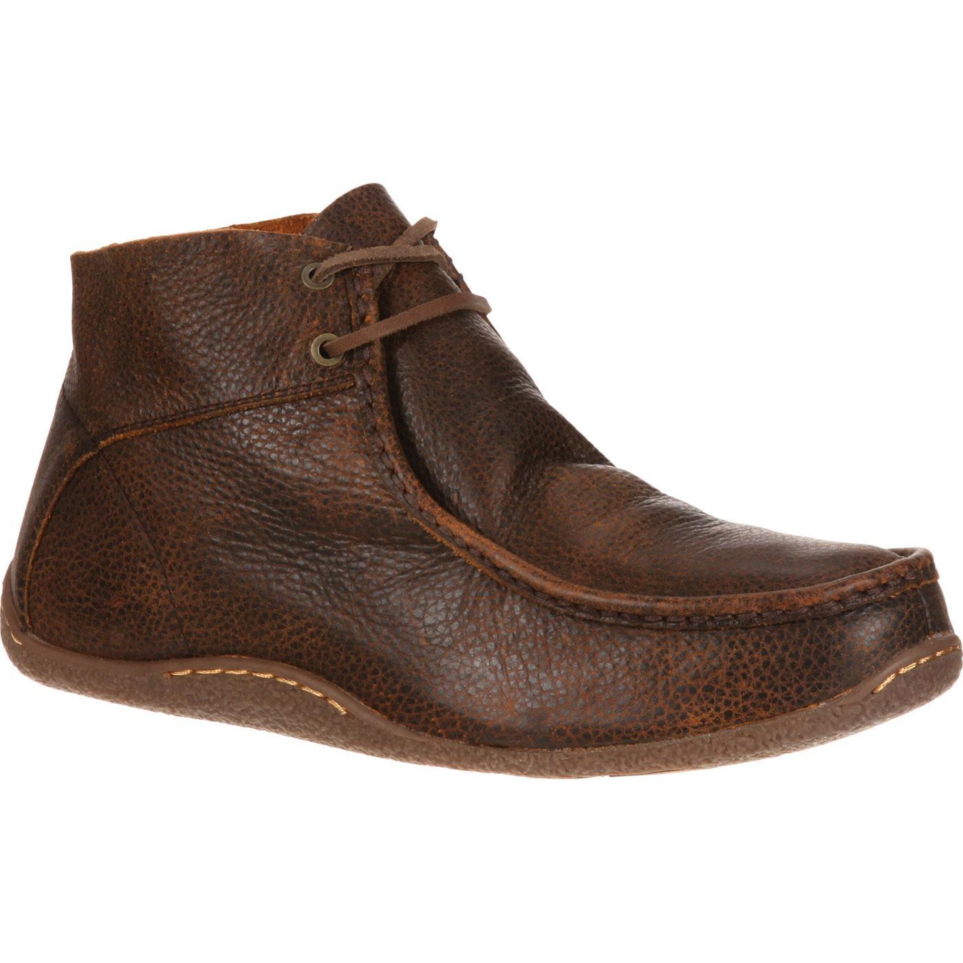 Mens' Brown Leather Wallabee Chukka Durango City Santa Fe DDB0063