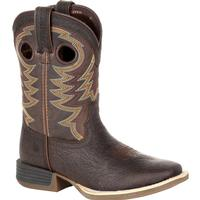 Durango® Lil' Rebel Pro™ Big Kid's Brown Western Boot, , medium
