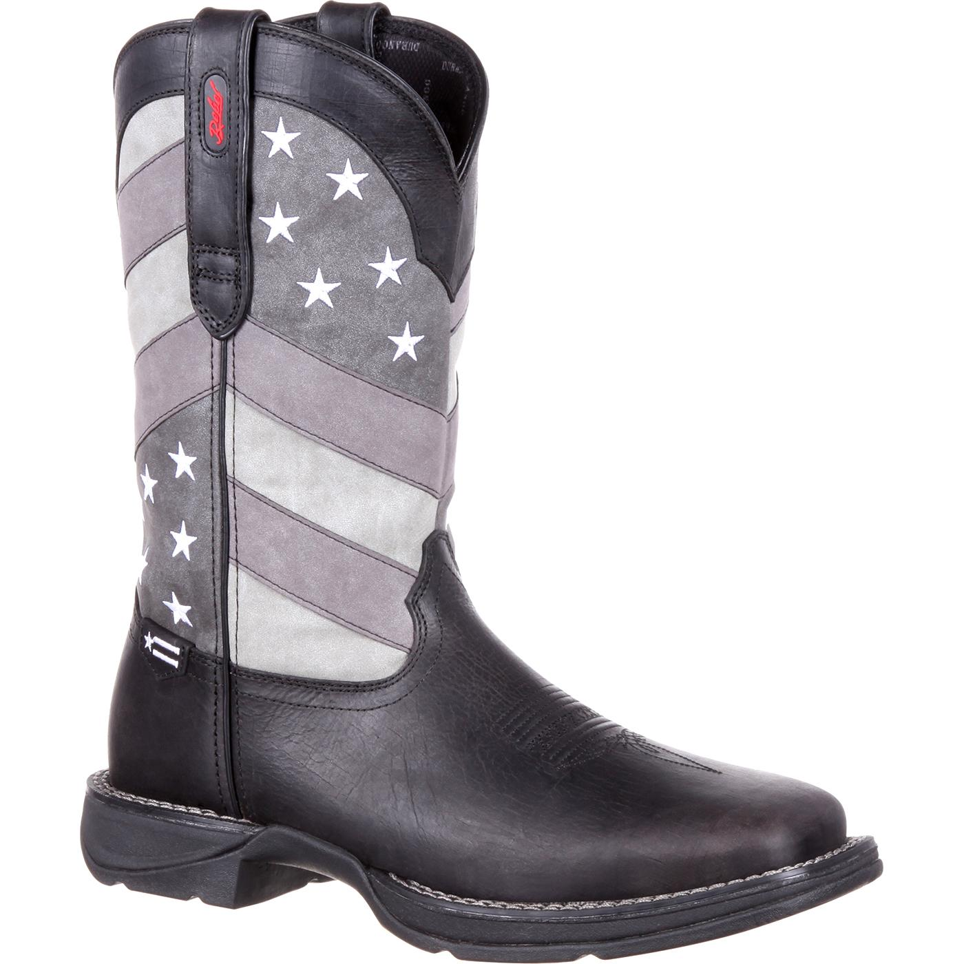 7783d95d2a9 Rebel by Durango Faded Black Flag Western Boot