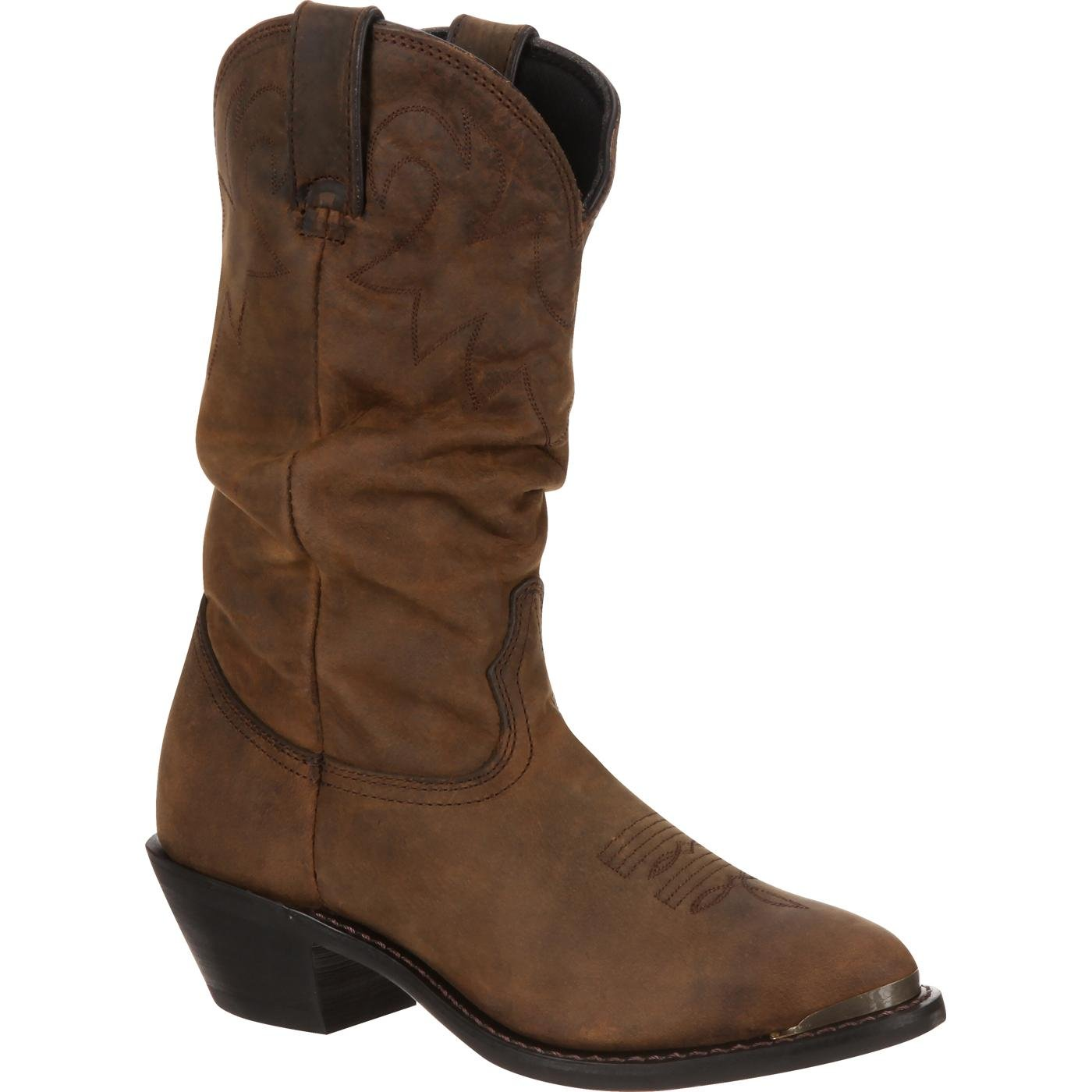 98ae8c001a9 Durango Women's Distressed Tan Slouch Western Boot