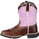 Lil' Durango Big Kids' Lavender Pull-On Western Boot, , small