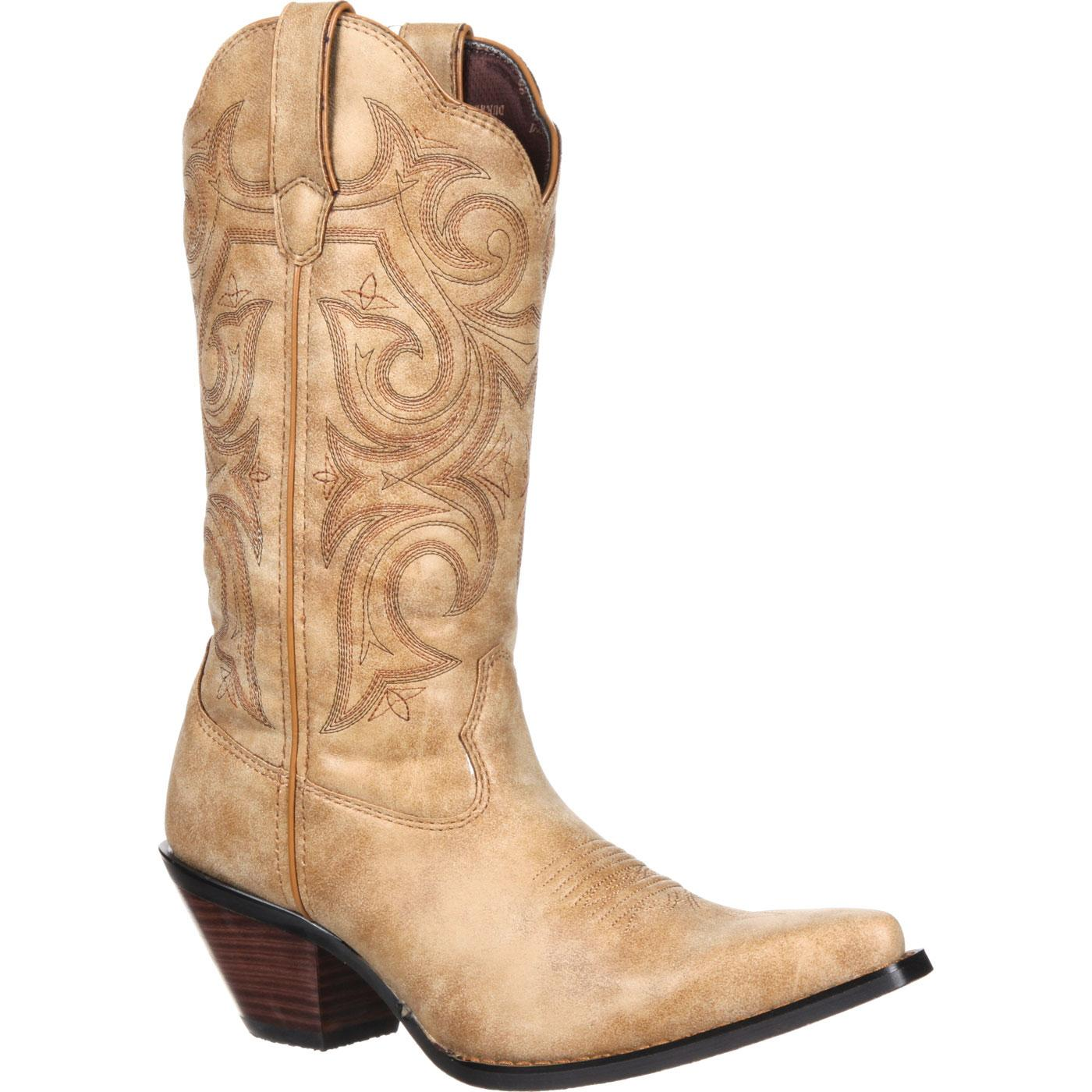 Durango Womens Sandy Brown Boots Crush 11 Inch Western Scall Upped