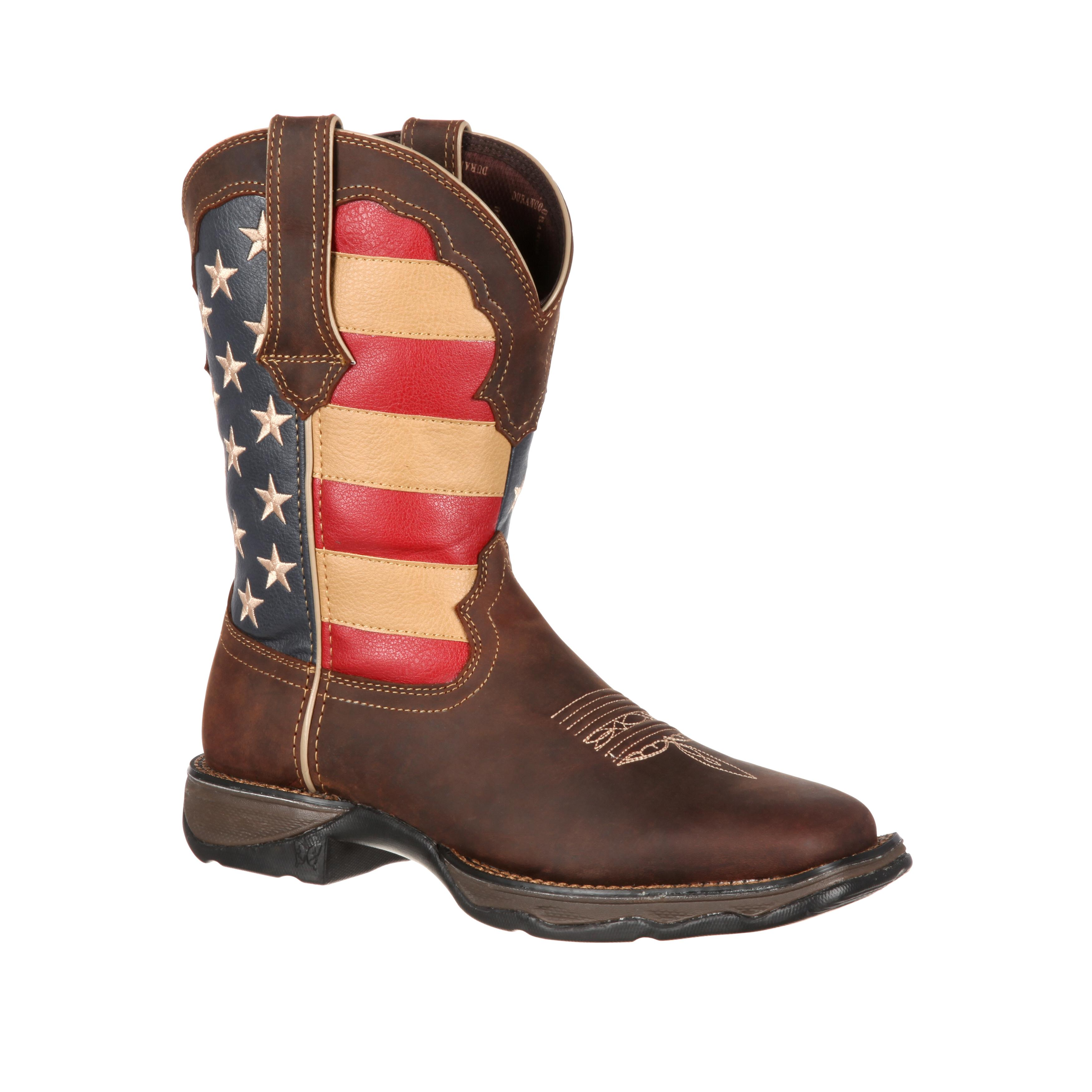 Lady Rebel by Durango Wide Calf Patriotic Pull-on Western Boot ...