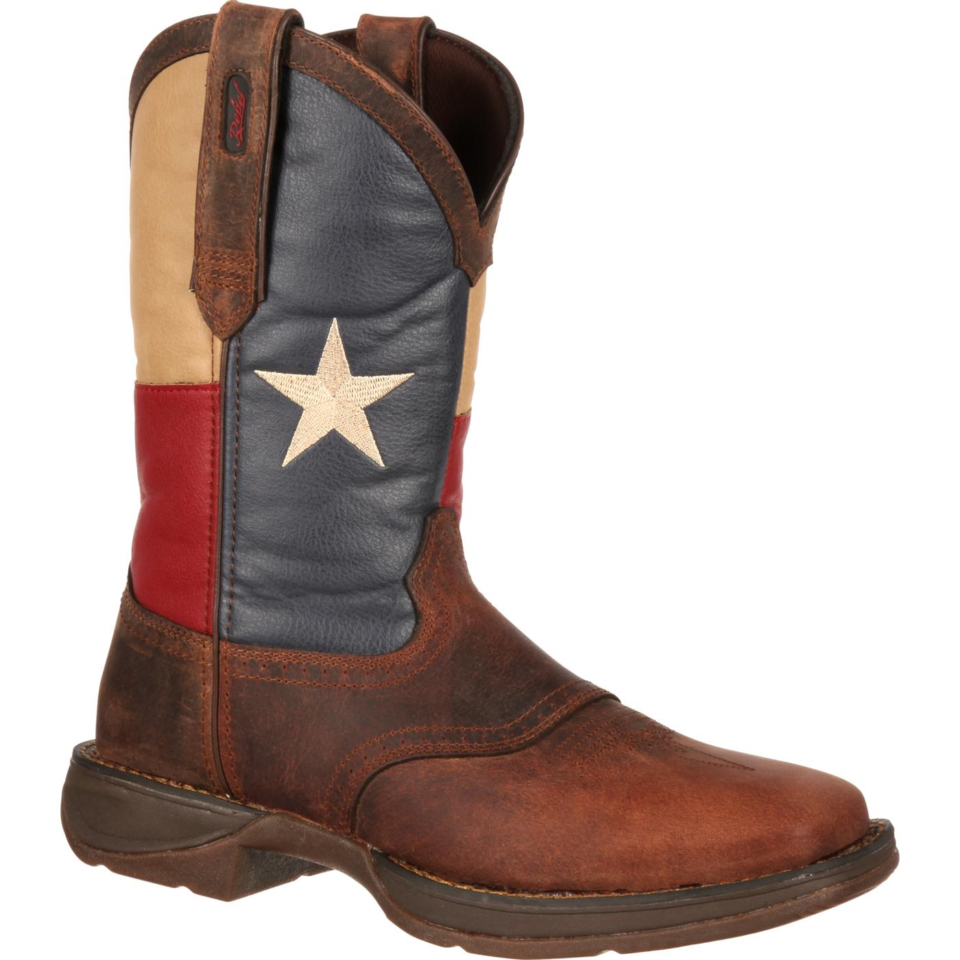 Durango Men S Patriotic Pull On Texas Flag Western Boot