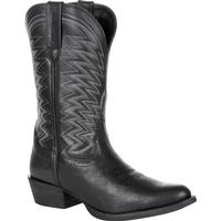 Durango Rebel Frontier Black Western R-Toe Boot, , medium