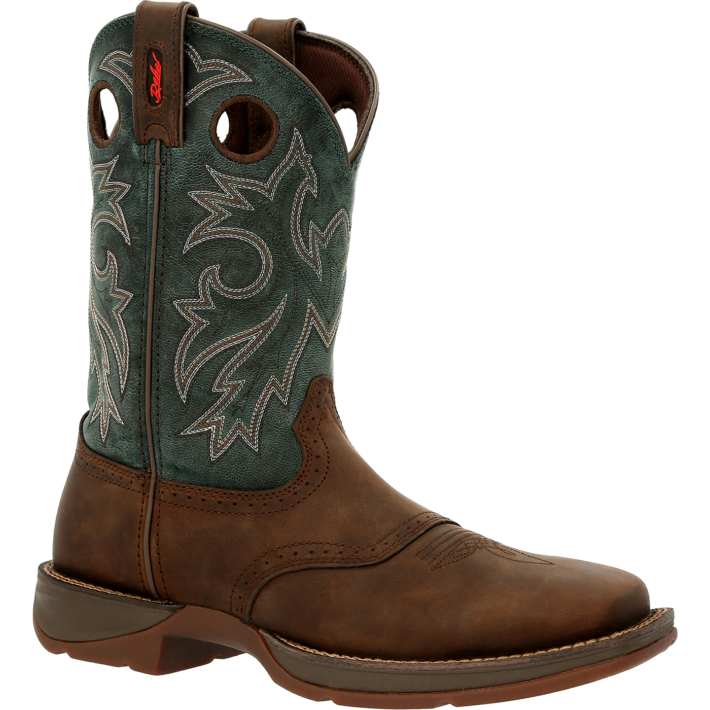 Durango Mens Coffee Cactus Boots Leather Rebel 12 Inch Pull On